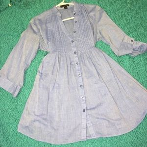 LONG DENIM BLOUSE (SIZE SMALL)